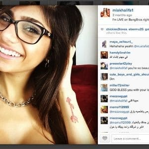 Mia Khalifa - Written Death Threats