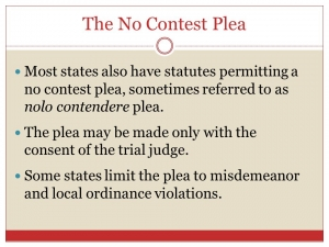 The Difference Between Pleading Guilty or Pleading No