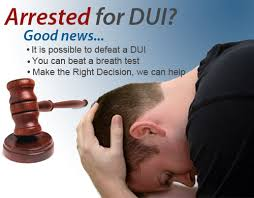 arrested for dui